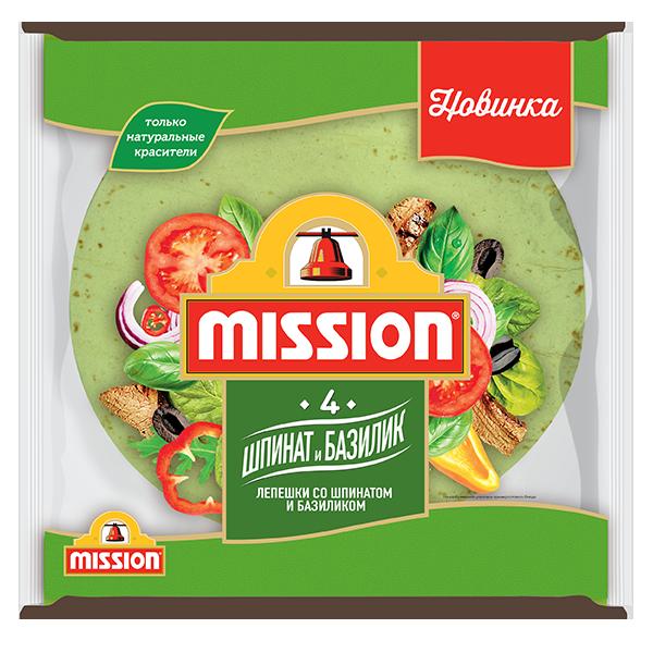Пшеничные лепешки Mission Шпинат-Базилик